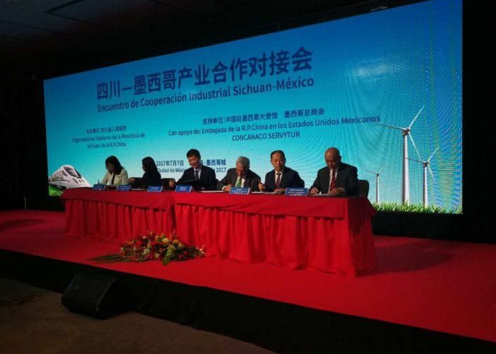 Firma de acuerdo de Coorperación industrial Sichuan-México