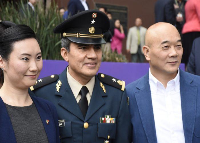 Representantes de la Asociación con el General Trujillo